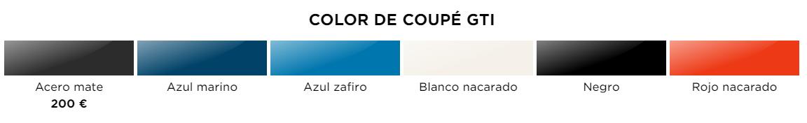 Colores Coupe GTI 2